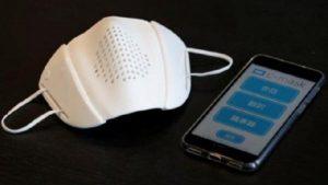 Masker Pintar dilengkapi Bluetooth produk startup jepang