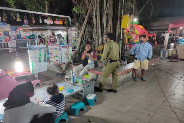 Seratusan Pengujung Alun-Alun Karanganyar dan Taman Pancasila Dihukum Karena Tak Pakai Masker