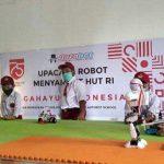 Upacara Bendera Dengan Robot Oleh Anak-Anak di Klaten