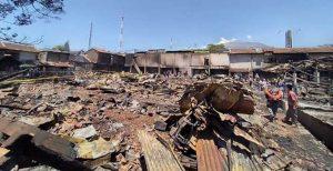 Kondisi Terkini Pasar Cepogo Yang Terbakar 3 Hari Yang Lalu