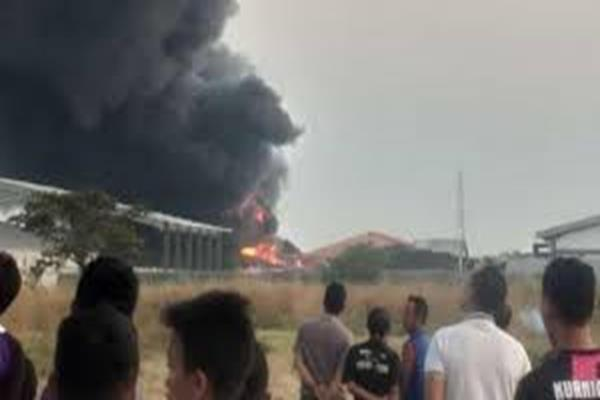 Kebakaran Tunggal Dialami Pabrik PT Sariguna di Sukoharjo, Kebakaran Tidak Menimbulkan Korban Jiwa