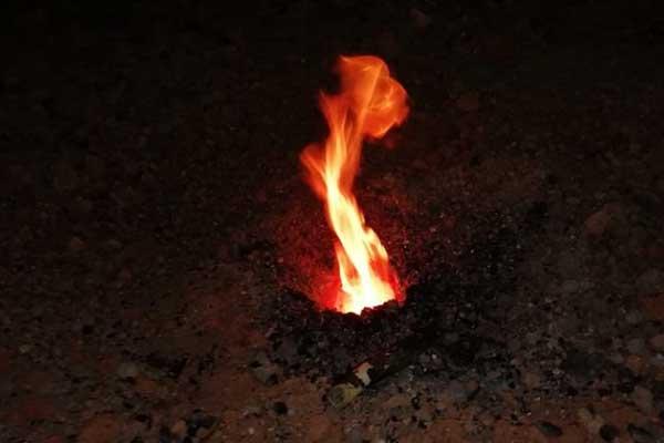 Api Abadi Mrapen Padam, Lubang Api di Bonagung Sragen Justru Makin Menyala
