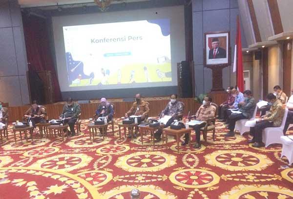 Kemenko Perekonomian dan Sejumlah Kementerian Gelar Jumpa Pers Terkait UU Cipta Kerja