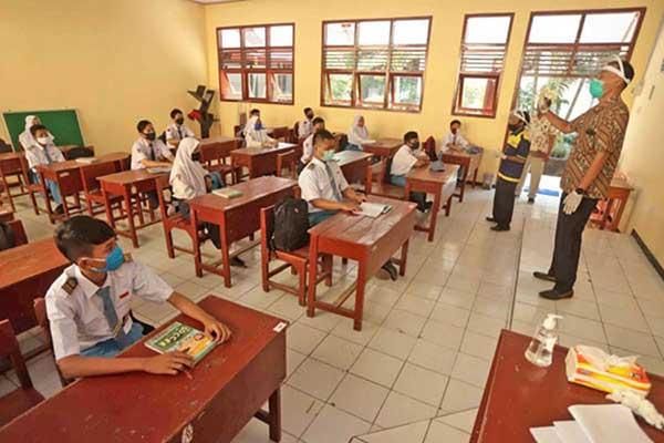 Sekolah di Sukoharjo Belum Terapkan Pembelajaran Tatap Muka Karena Kurva Covid-19 Masih Tinggi