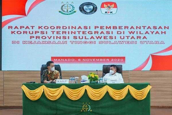 KPK-APH Sulawesi Utara Rapat Koordinasi Bahas Sinergi Pemberantasan Korupsi