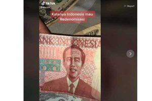 Heboh Uang Redenominasi Rp 100 Bergambar Jokowi