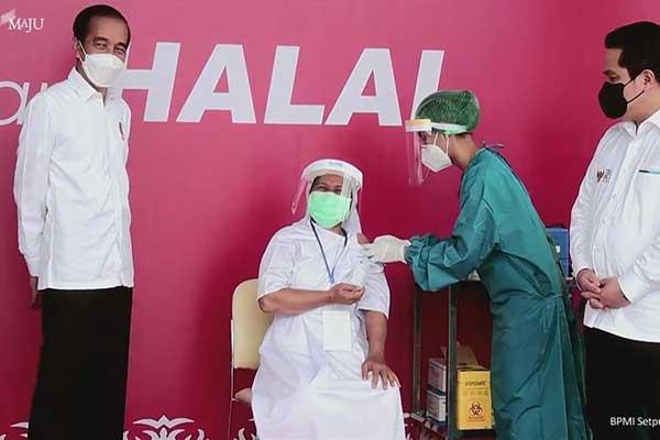Jokowi Optimis Vaksinasi Rampung Sesuai Target