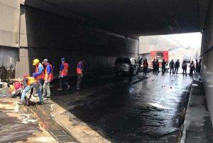 Underpass Makamhaji Sukoharjo Ditutup Sementara