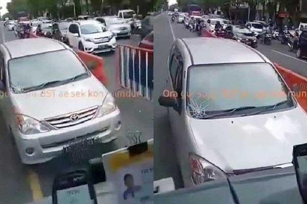 Viral Avanza Masuk Jalur BST Solo, Pengemudi Mobil Ditilang